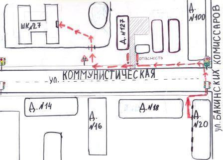 как нарисовать схему пути от дома до школы